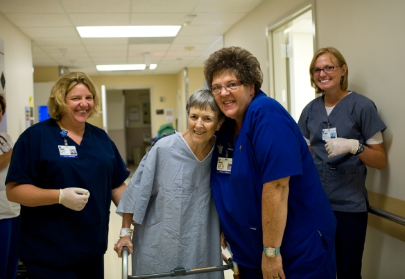 Rehab nurses and patient
