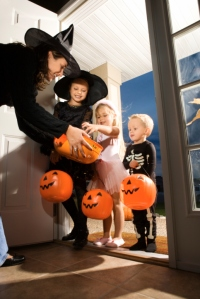Trick-or-treaters on Halloween
