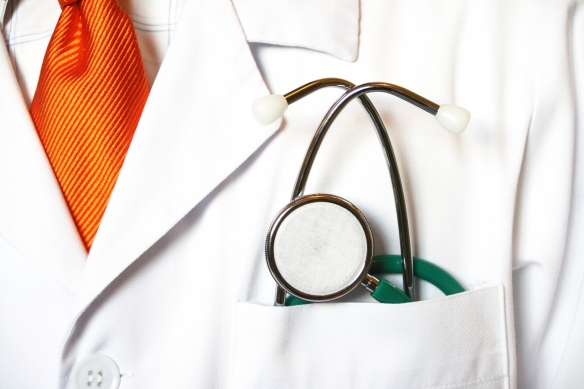 physician in white coat