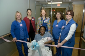 Mother/Baby ribbon cutting