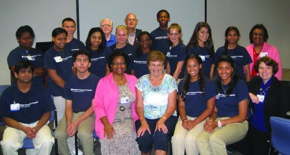 Junior volunteers are an important part of the Durham Regional Hospital team each summer.